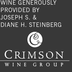 wine generously provided by joseph s. & diane h. steinber crimson wine group