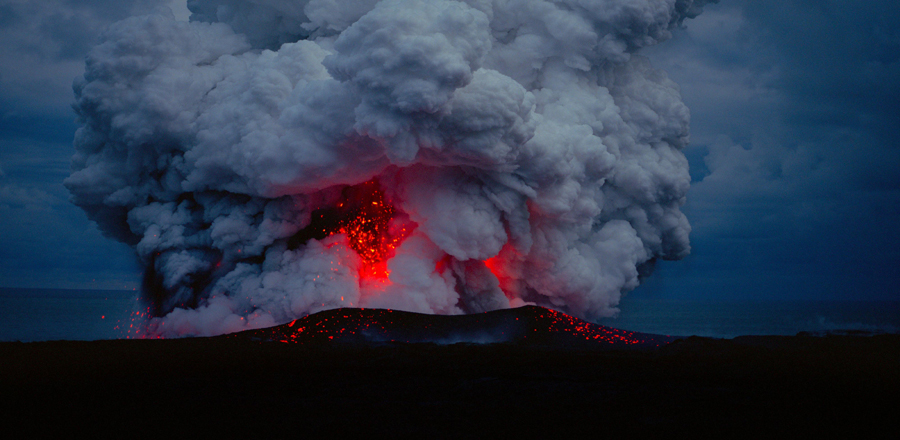 Voyage of time Volcano eruption
