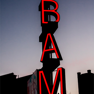 BAM sign on Flatbush Avenue