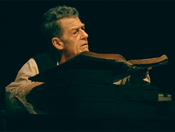 John Hurt in the Gate production of Krapp's Last Tape
