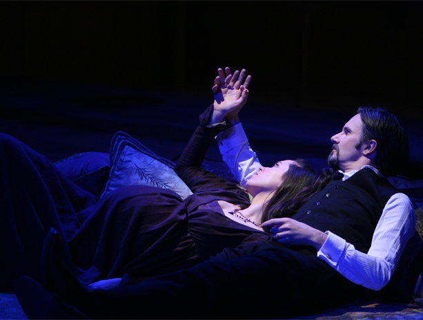 Rebecca Hall and Josh Hamilton in The Winter's Tale