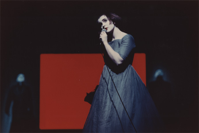 Annette Paulmann in Alice (1995); Robert Wilson, Tom Waits, Kathleen Brennan, and Paul Schmidt/Thalia Theater.