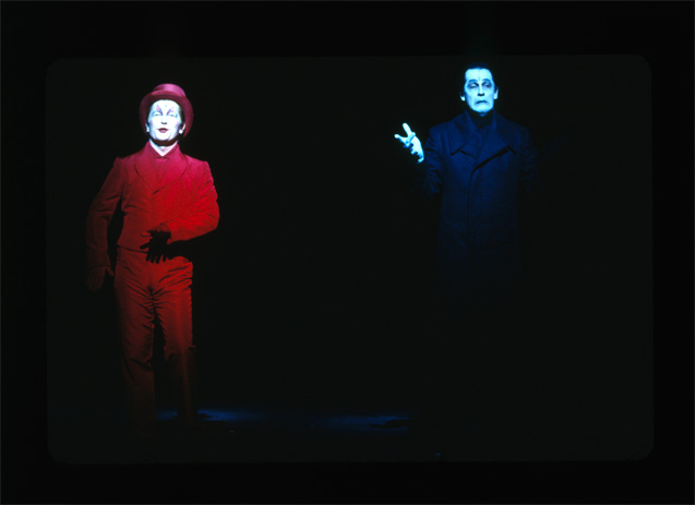 Hans-Jörg Frey and Stephan Schad in POEtry (2001); Lou Reed and Robert Wilson/Thalia Theater.